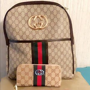 Gucci Backpack and Wallet